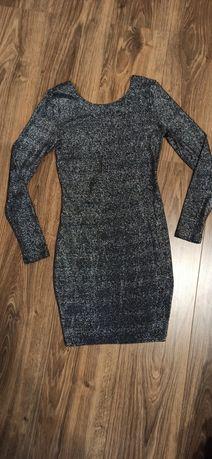 Платье  плаття чорне блискуче
