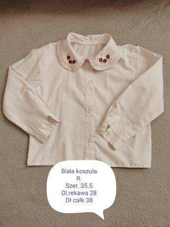 Białe koszule 3-4 lata