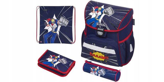 Портфель для мальчика, школьный комплект HERLITZ LOOP PLUS Комиксы