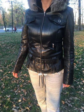 Куртка зима кожаная