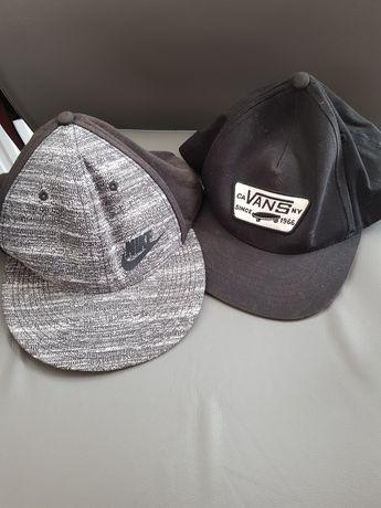 Zestaw 2 czapki z daszkiem Nike I Vans stan bardzo dobry