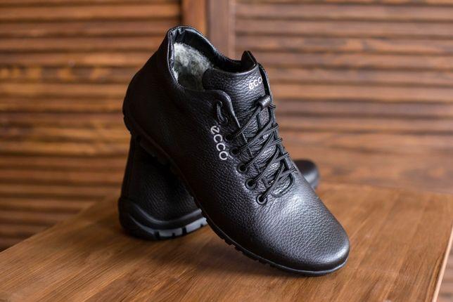 Мужские зимние ботинки Ecco Из натуральной кожи