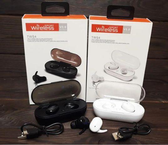 Беспроводные Bluetooth наушники гарнитура TWS 4 Навушники