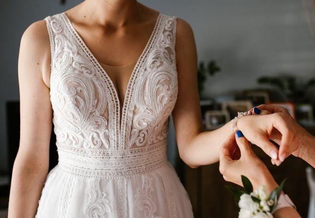 Suknia ślubna - piękna talia!