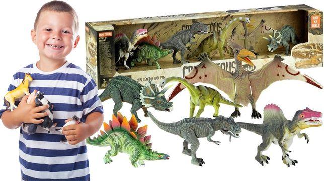 ZESTAW dinozaurów 6 szt tyranozaur pterodaktyl zabawka dla dzieci