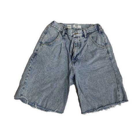 джинсовые длинные шорты bershka
