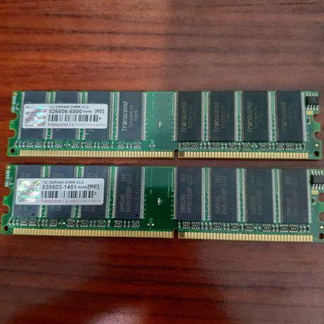 Memória Transcend JetRam 2x1GB DIMM DDR400 CL3 1GB 400MHz