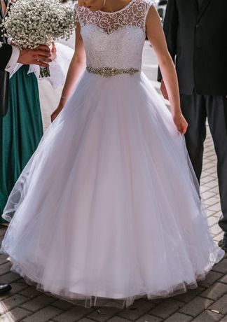 Suknia ślubna r.36 + halka na kole