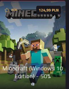 Minecraft -50% windows 10 edition