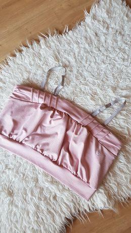 Nike różowy stanik sportowy crop top Nikefit