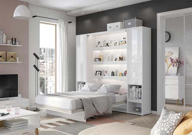 Półkotapczan łóżko chowane zamykane w szafie Bed Concept 160x200
