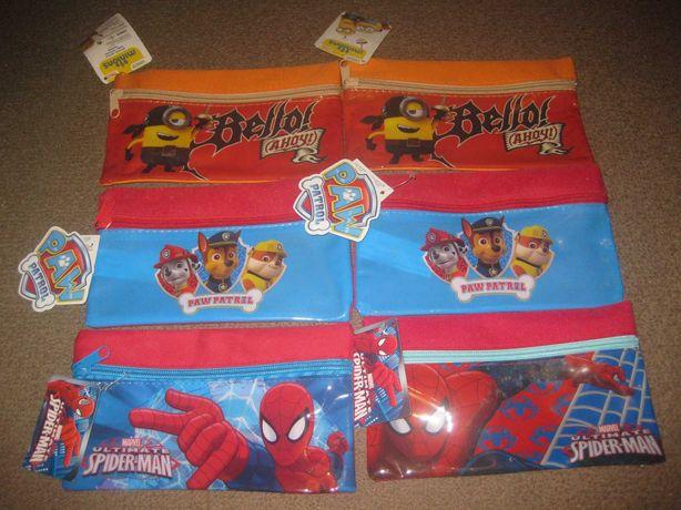 6 Estojos Escolares/Minions/Paw Patrol/Spider-Man/Novos!