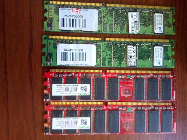 Память DDR, 4 планки по 512мб