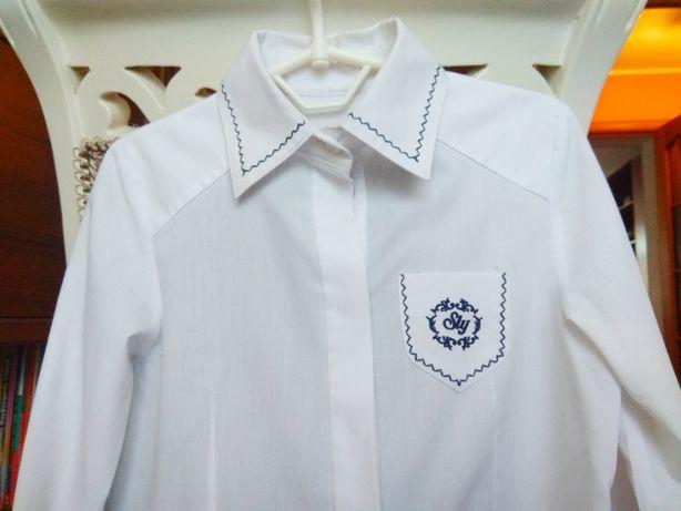 Рубашка школьная SLY 6-7-8 лет 128-134