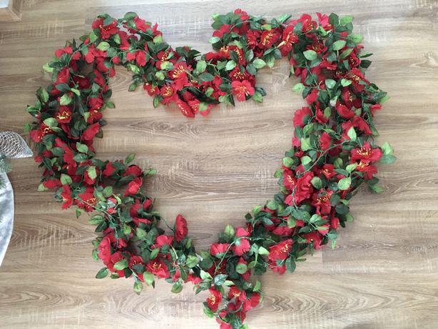 Girlanda kwiatowa ślub wesele czerwony