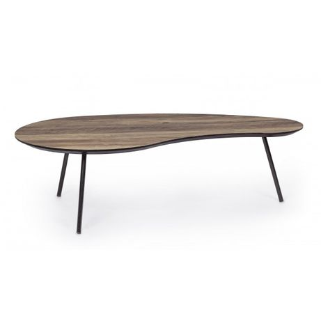 Mesa apoio Oval Nogueira Front Table- NOVO by OVO Home