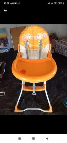Стульчик для кормления Lorelli (Bertoni) Jolly оранжевые мышки