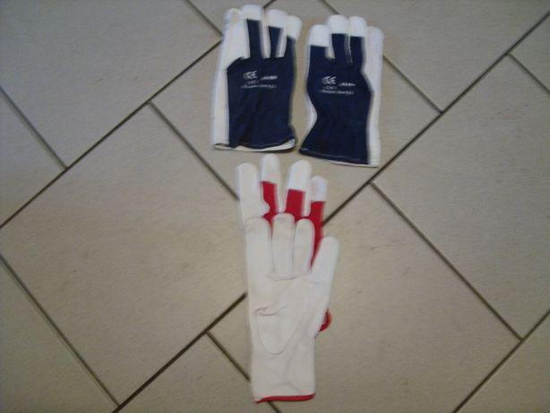Rękawice robocze skórzane bardzo wygodne
