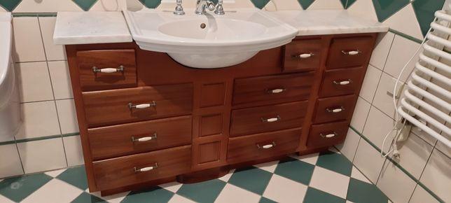 Szafka łazienkowa z umywalką, meble, zestaw, komplet