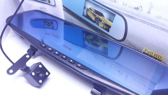 Зеркало видеорегистратор 2 камеры+ камера заднего вида DVR Full HD