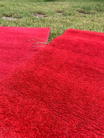 Tapetes vermelhos de pelo curto 60x100cm