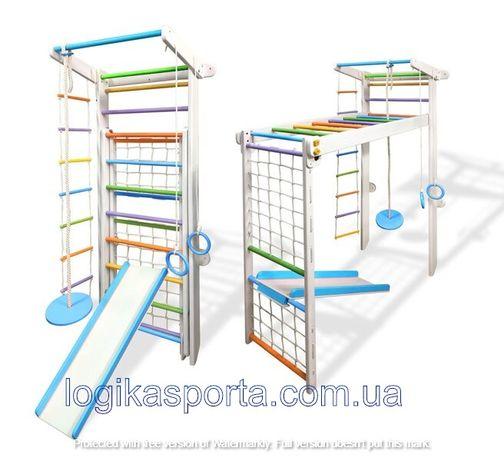 Детский спортивный комплекс, уголок, шведская стенка из дерева