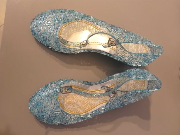 Buty świecące baleriny koturn Elza Kraina Lodu 20cm 32/33
