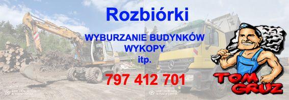 Rozbiórki budynków domów Warszawa. Wyburzenia budynków. Wykopy. Wywóz Warszawa - image 1