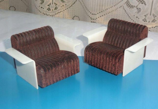 Fotele 2 sztuki dla lalki z PRL-u