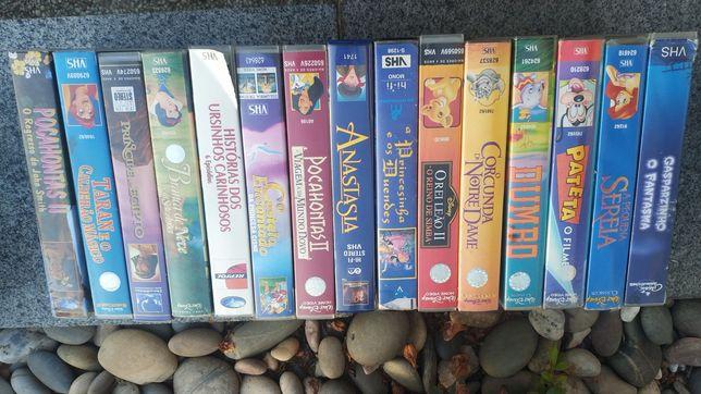 Mega pack cassetes VHS DVDs banda desenhada (rei leão, Pocahontas)
