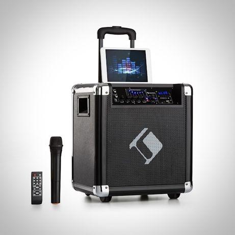 """Mobilna kolumna, zestaw PA 8""""głośnik basowy maks. 35/100 W mikrofon VH"""