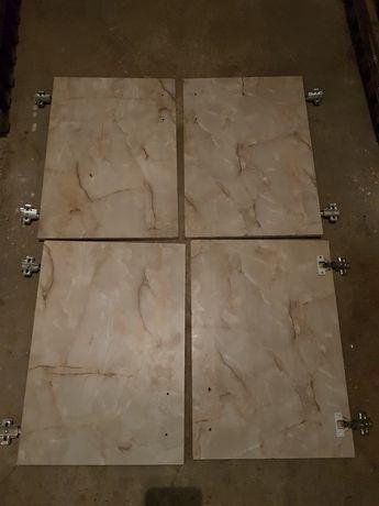 front drzwi szafki kuchennej z zawiasami 40x56,5 marmurowy