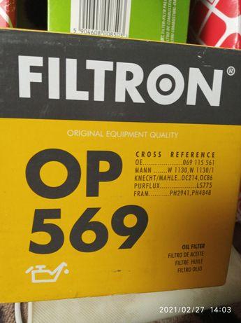 Фильтр масляный FILTRON OP569