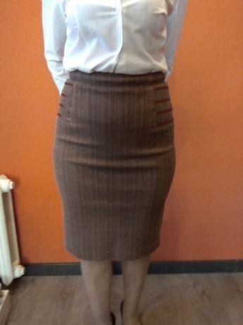 юбка карандаш стрейчевая офисная на подкладке М 46