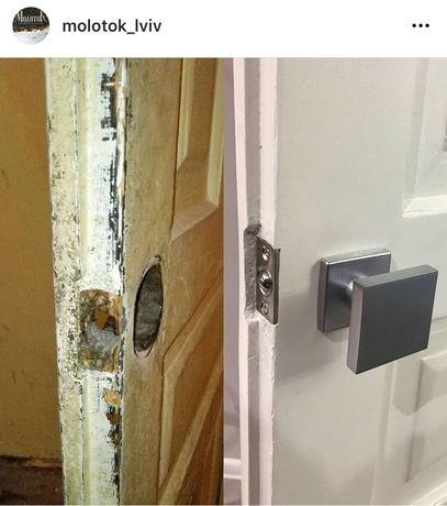 Реставрація дверей вікон меблів реставрація дерево лакування покраска