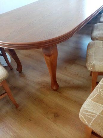 Stół 250 plus 100 i krzesła 12 szt.