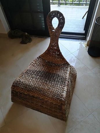 Cadeira de baloiço bambu