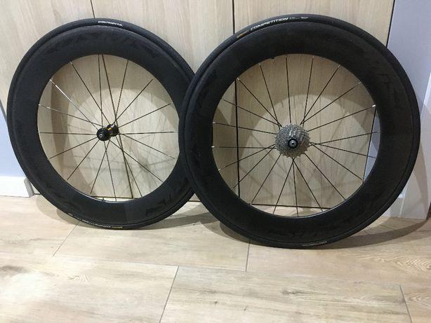 Mavic Cosmic, 80mm, carbon, szytka, triathlon, szosa, koła, rower