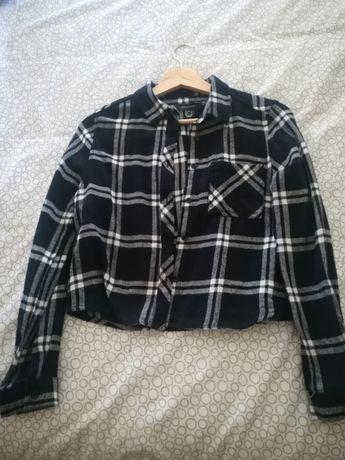 Camisa crop top xadrez