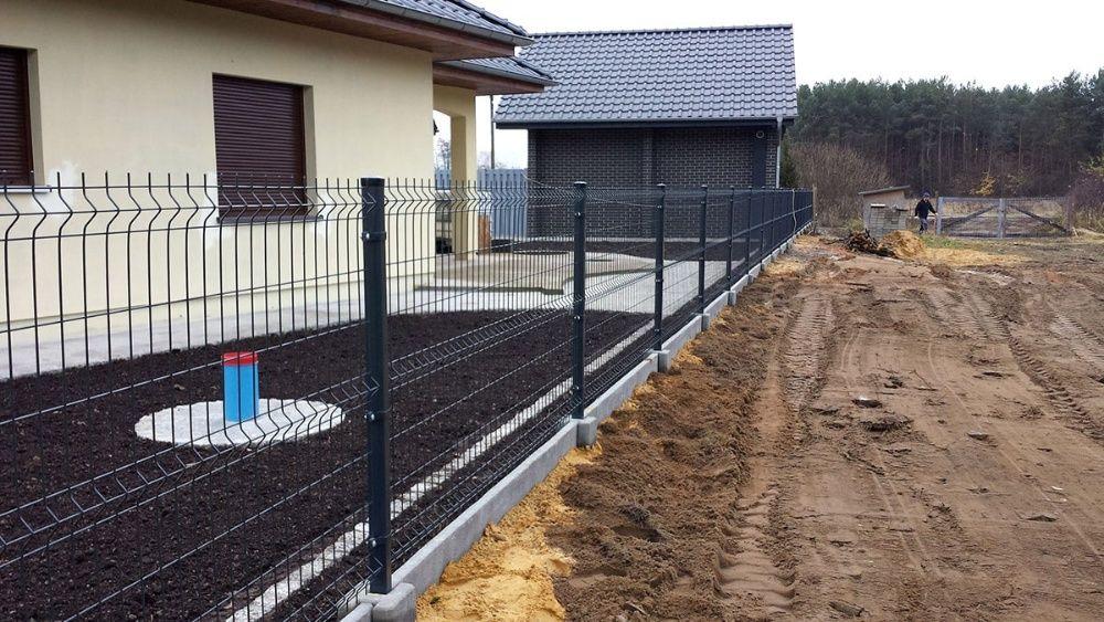 PROMOCJA! ogrodzenie panelowe FI4, 153 cm, słupek, obejmy, śruby Chojnów - image 1