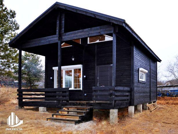 Мансардный дом площадью 58,6м2, деревянный дом, дачный дом из дерева