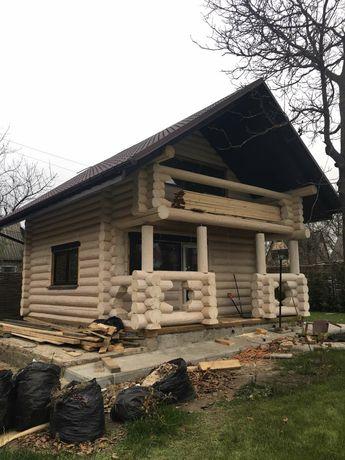 Дом из сруба рубленный закарпатскими мастерами