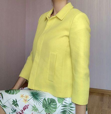 Лимонный желтый пиджак Zara