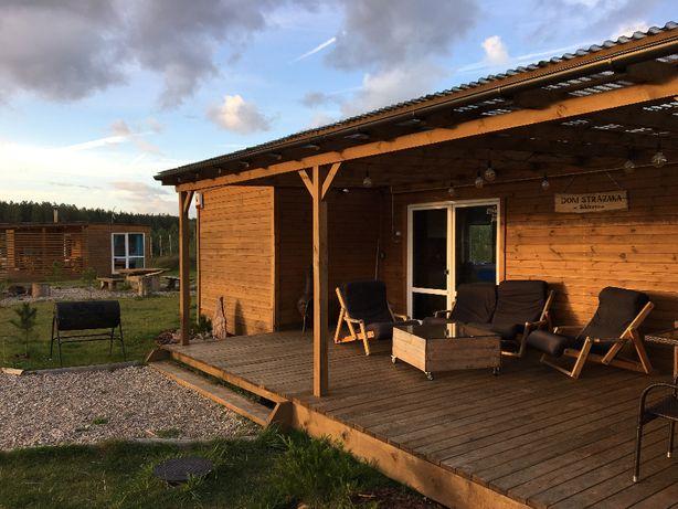 Wolne terminy!! Domek z kominkiem. Ruska balia,sauna, jezioro, las!