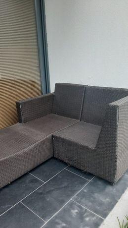 Mobiliário Exterior/Jardim em rattan castanho