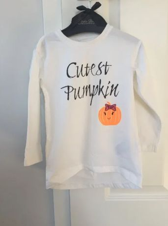 Tunika name it cutest pumpkin 92/98 halloween bluzka biała dynia