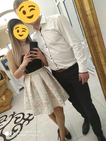 Sukienka czarno - złota 36r.