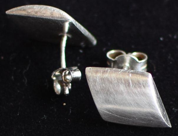Kolczyki romby, srebro