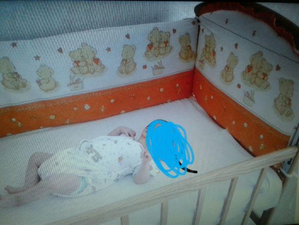 Бортики защита на всю кровать + навесной карман на кроватку