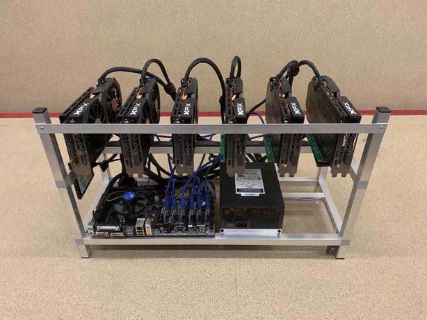 Koparka kryptowalut ETH 6 x RX 580 XFX 8GB 186MH/s OD RĘKI